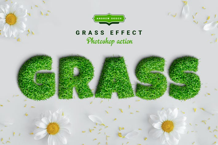 Thumbnail for Grass Photoshop Action
