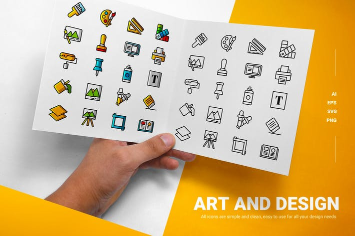 Thumbnail for Kunst und Design - Icons