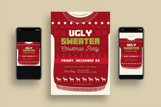Ugly Sweater Christmas Party + Social Media