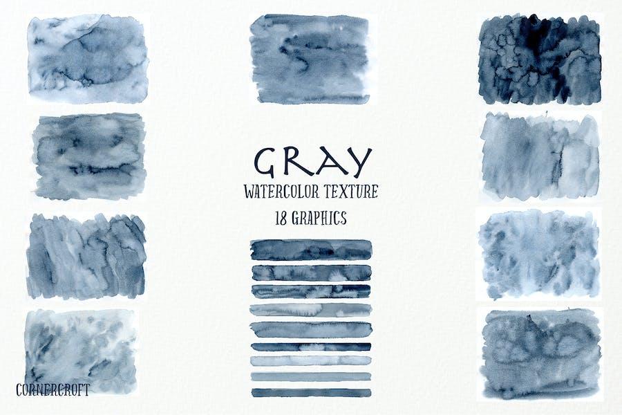 Aquarell Textur Grau