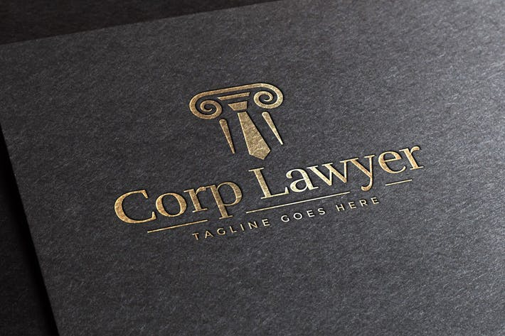 Thumbnail for Corp Lawyer Logo Template