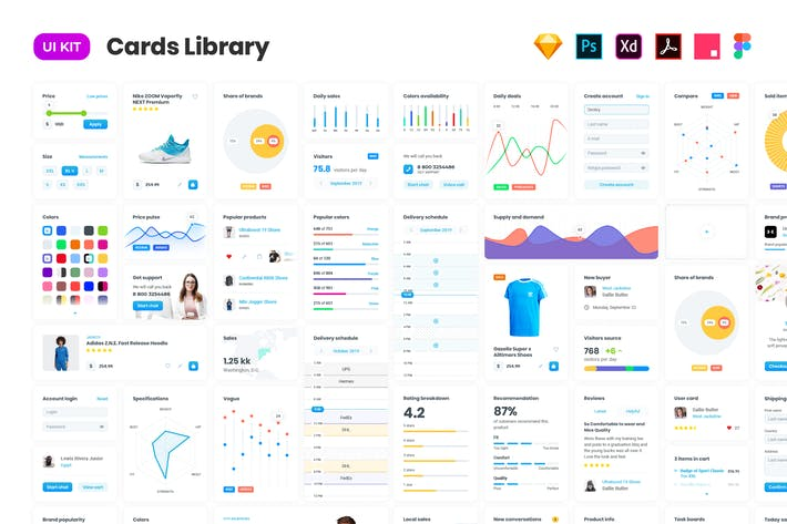 Thumbnail for Cards – User Interface kit