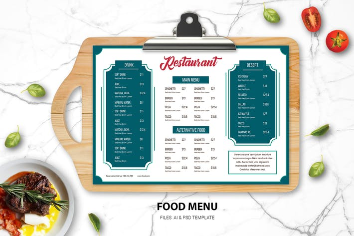 Thumbnail for Food Menu