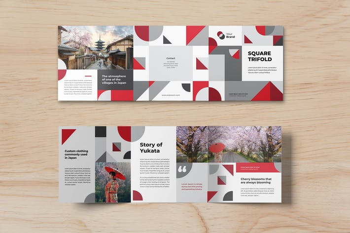 Thumbnail for Square Trifold Japanesse Brochure