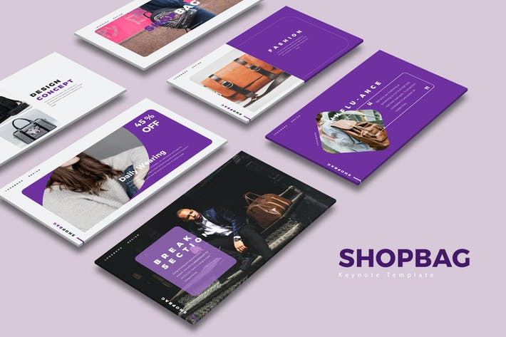 Thumbnail for ShopBag Keynote Templates
