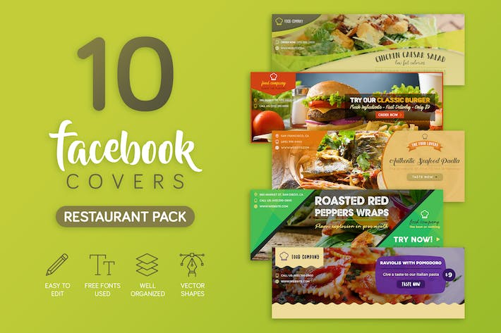 Thumbnail for Restaurant Facebook Cover
