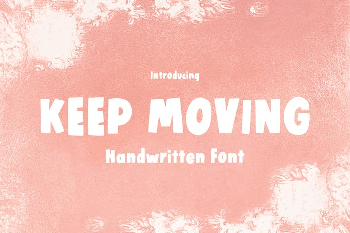 Thumbnail for Keep Moving - Police manuscrite en gras