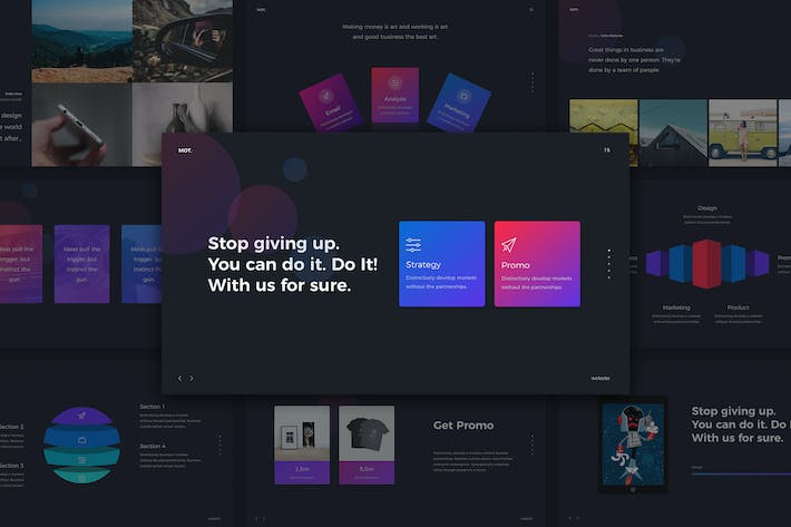 Cover Image For Motion - Gradient & Creative Template (KEY)