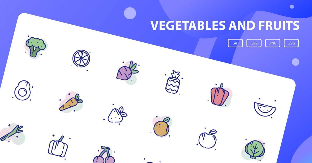 Download Vegetables and Fruits Icon Pack by inspirasign