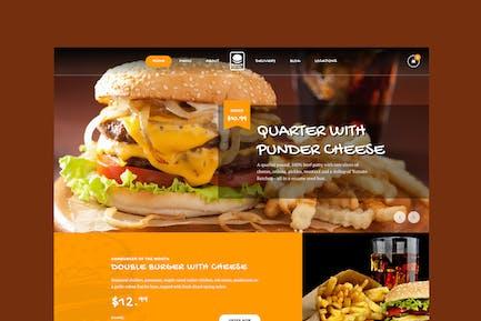 Fast Foody - Restaurants & Essen HTML5 Vorlage