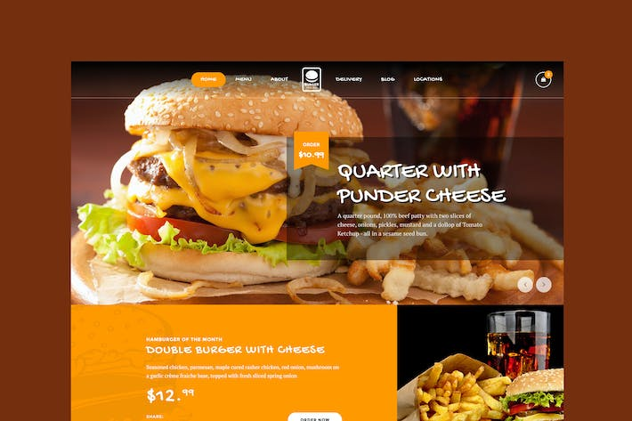 Thumbnail for Fast Foody - Restaurants & Food HTML5 Template