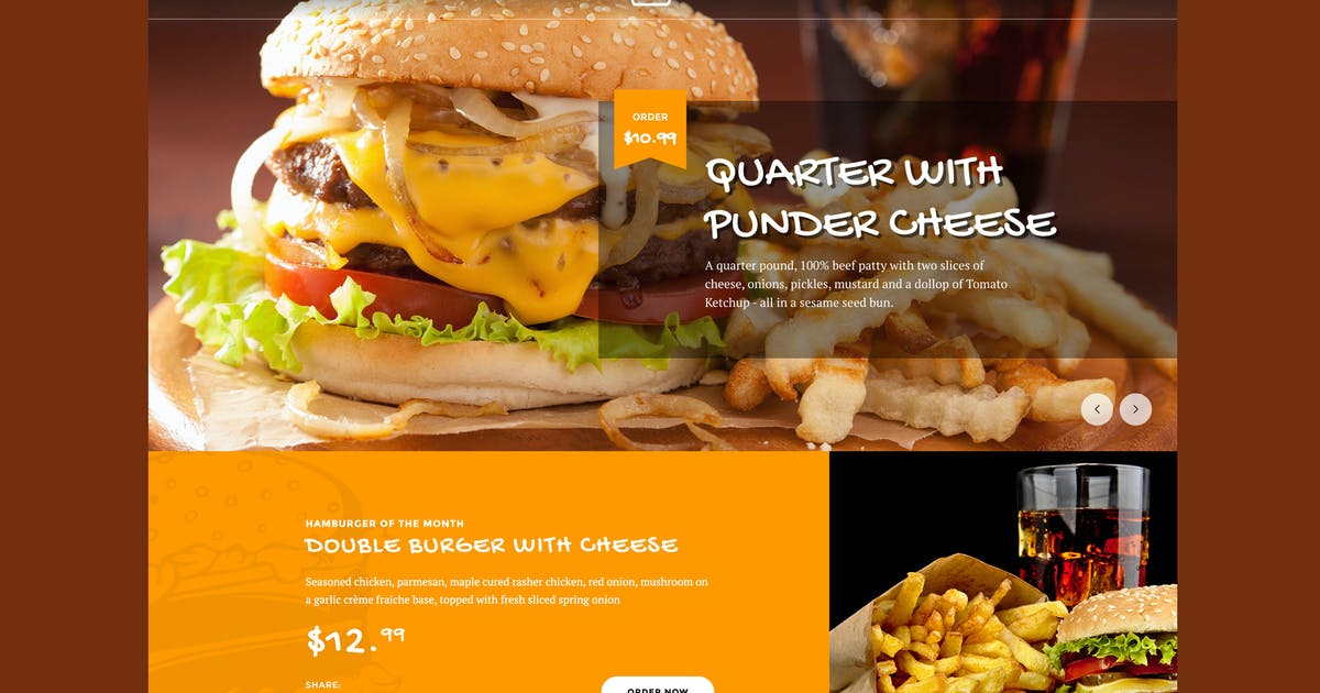 Download Fast Foody - Restaurants & Food HTML5 Template by Nunforest