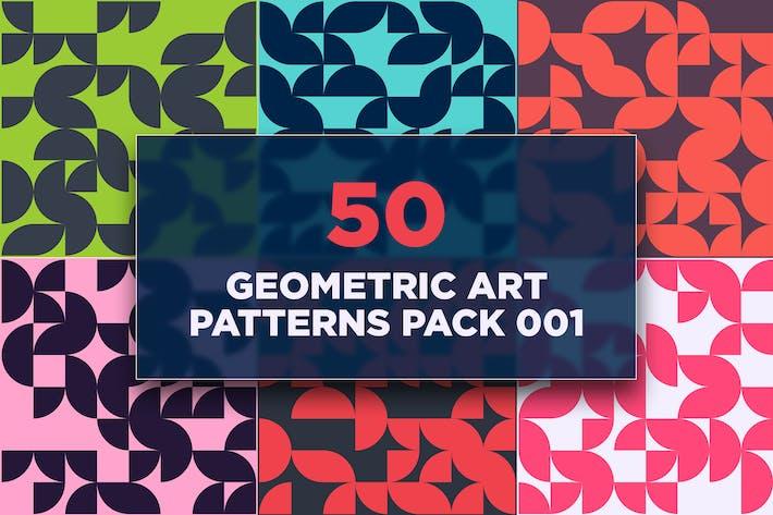 Geometrische Kunstmuster, Packung 001, 50 Stück