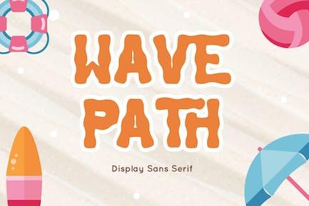 Ruta de la onda - Display Sans Con serifa