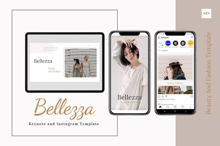 Belezza - Шаблон Keynote и Instagram