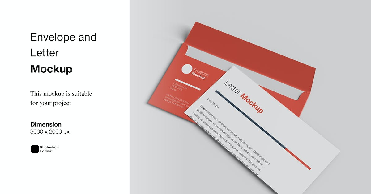 Download Envelope and Letter Mockup by IanMikraz