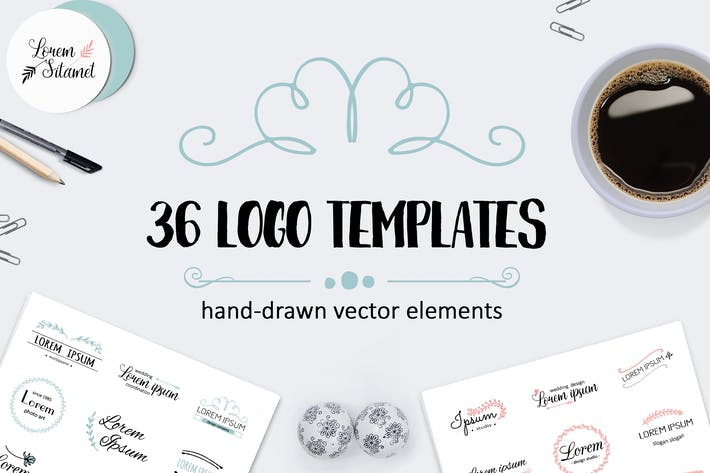 Thumbnail for Vector logo templates collection