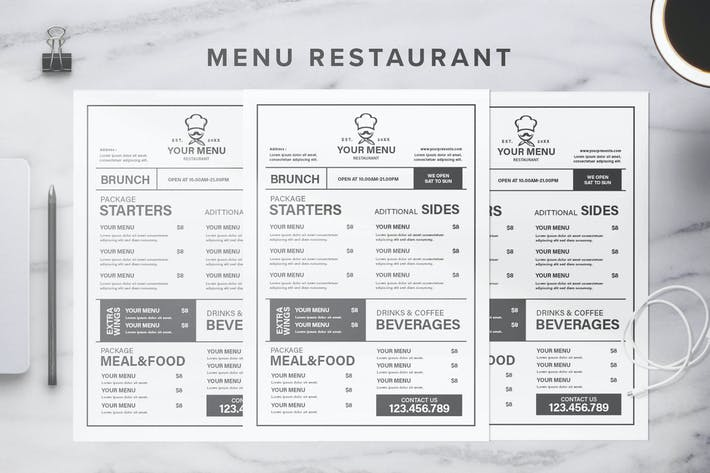 Thumbnail for Menu Restaurant