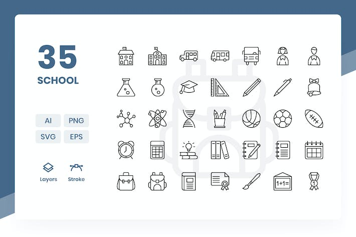 School - Icons Pack