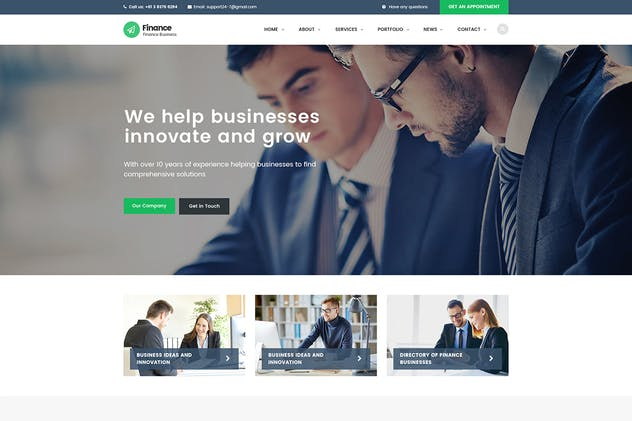 Finance – Consulting, Accounting React JS Template