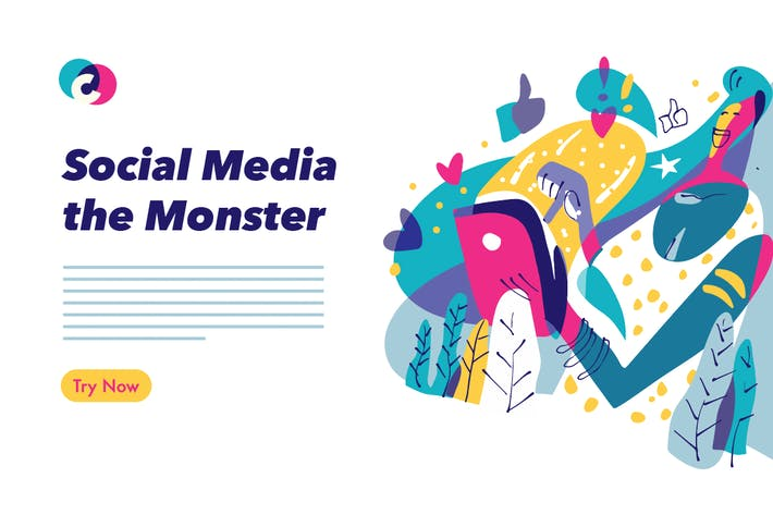 Thumbnail for Social Media colorful graphic illustration