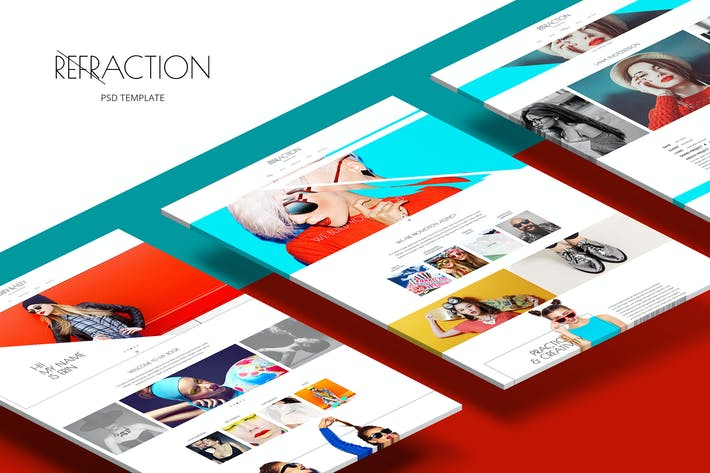Cover Image For Refraction — Unique & Creative PSD Theme