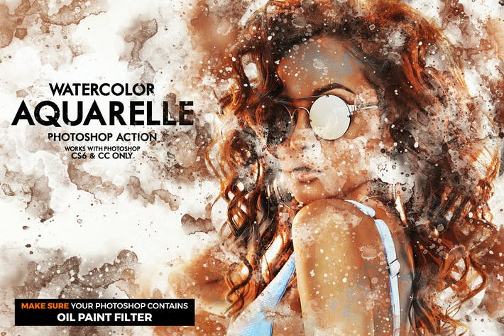 Thumbnail for Aquarelle Watercolor Photoshop Action