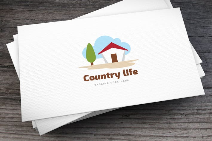 Thumbnail for Country Life Logo Template