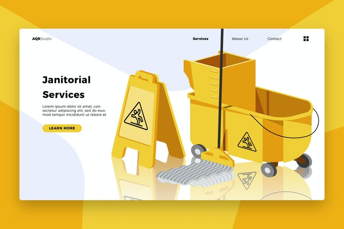 Janitorial Service - Banner & Landing Page