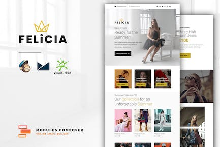 Felicia - E-commerce Responsive Email Template