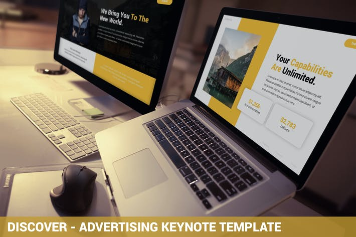 Thumbnail for Discover - Advertising Keynote Template