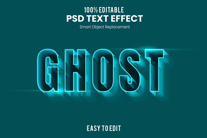 Ghost 3D Text Effect PSD
