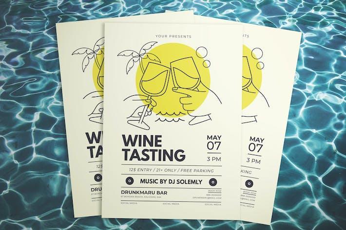 Thumbnail for Summer Wine Tasting Flyer