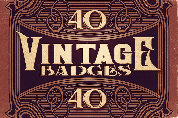 Thumbnail for 40 badges vintage