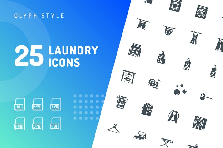 Laundry Glyph Icons