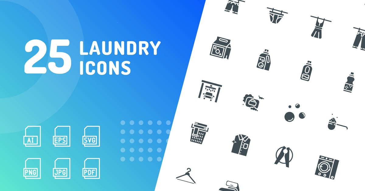 Download Laundry Glyph Icons by kerismaker
