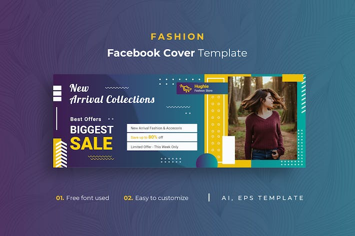 Thumbnail for Fashion r1 Facebook Cover Template