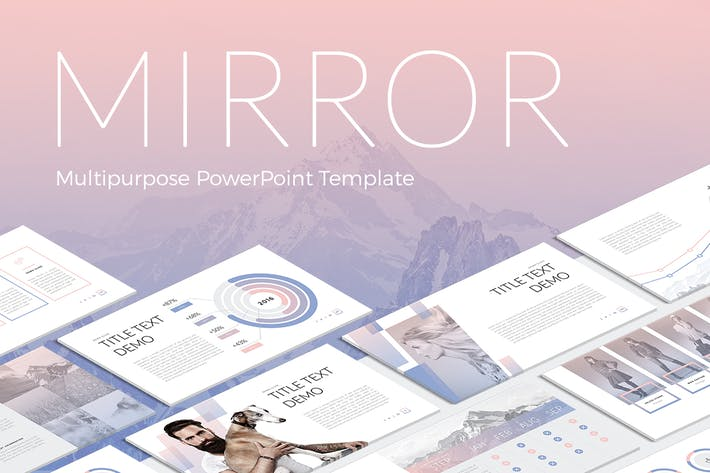 mirror modern powerpoint template by site2max on envato elements