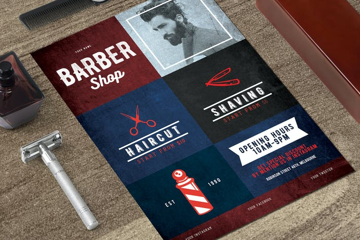 Cover Image For Barbershop Flyer