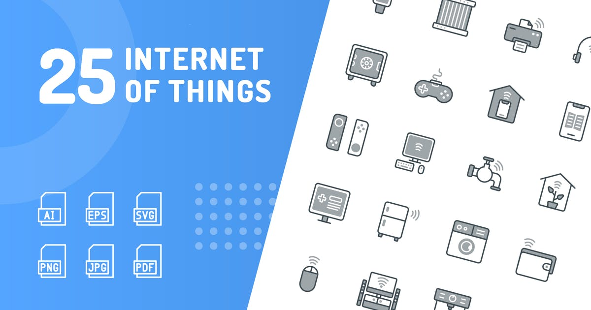Download Internet of Things Chromatic Icons by kerismaker