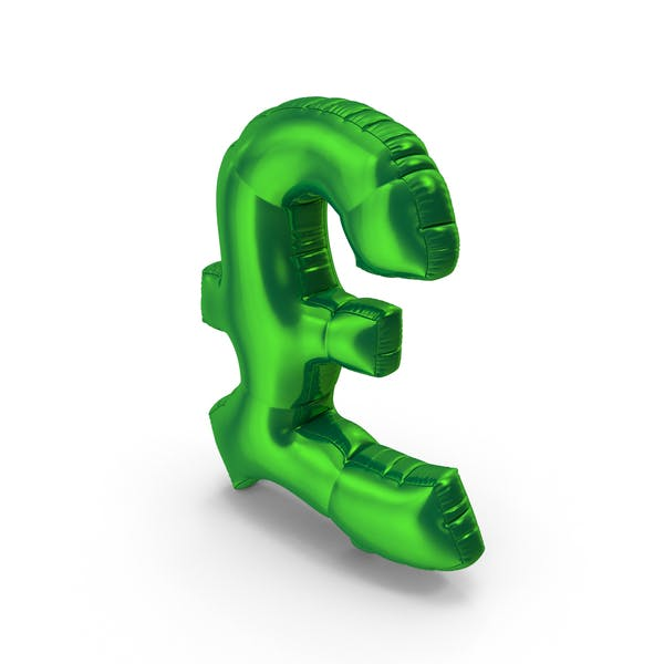 Thumbnail for Foil Balloon Pound Green