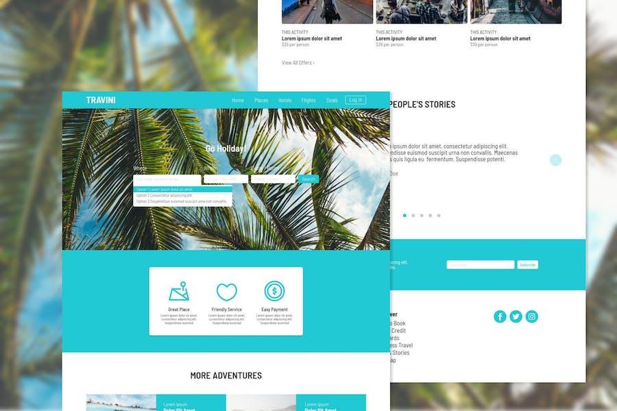 Travini Travel Hub Adobe XD Template
