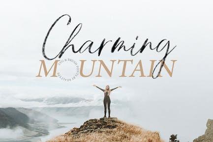 Charming Mountain Webfont, Brush y Fuentes SVG