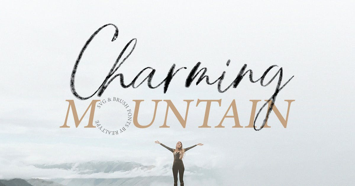 Download Charming Mountain Webfont, Brush & SVG Fonts by Siwox