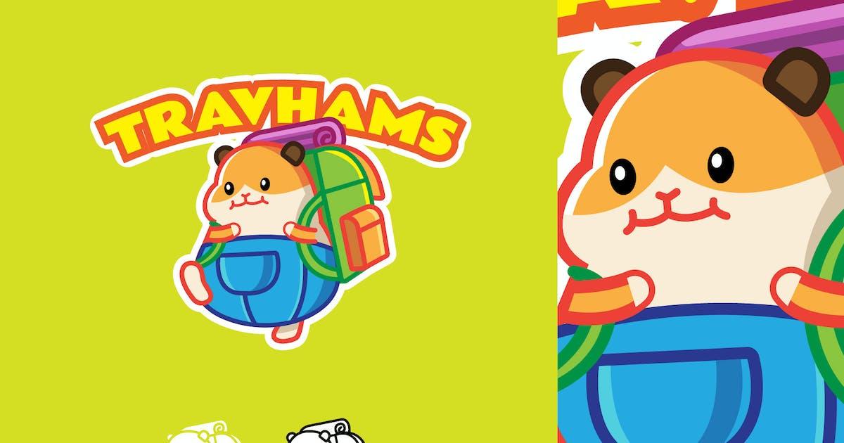 Download Travel Hamster - Mascot & Esport Logo by aqrstudio