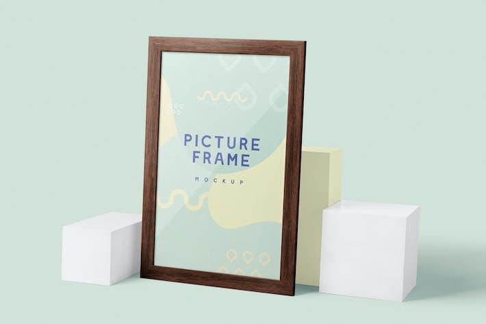 Thumbnail for 5 Rectangular Picture Frame Mockups