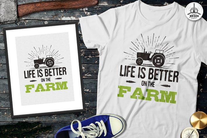 Cover Image For Organic Farm Logo & Eco Food Retro Badge / Emblem
