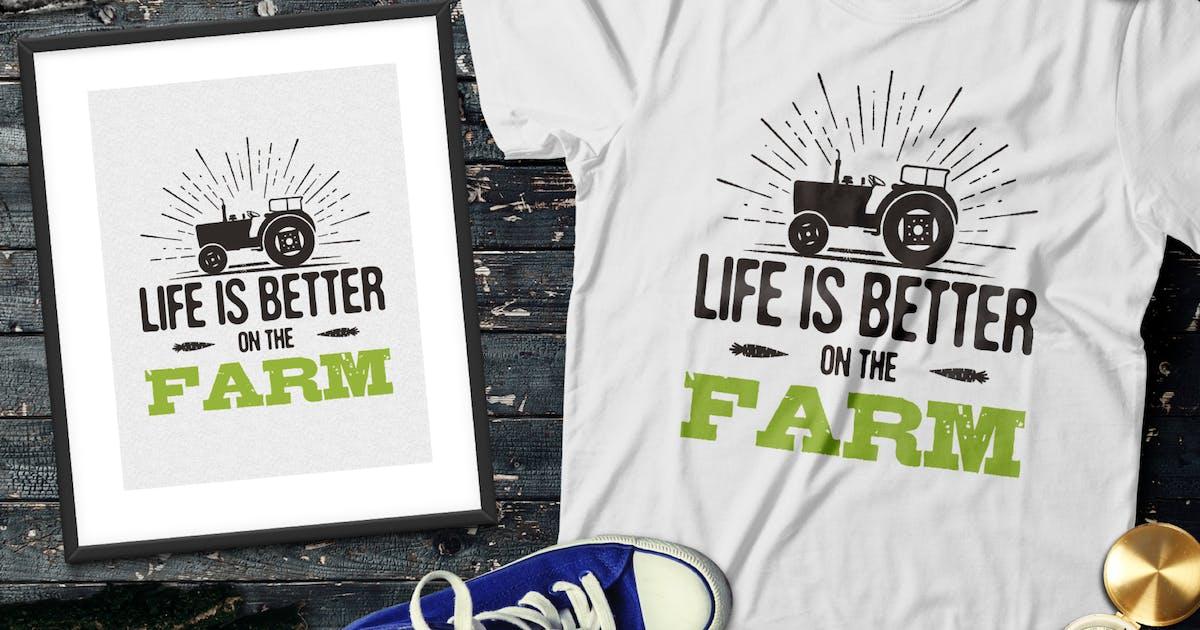 Download Organic Farm Logo & Eco Food Retro Badge / Emblem by JeksonJS