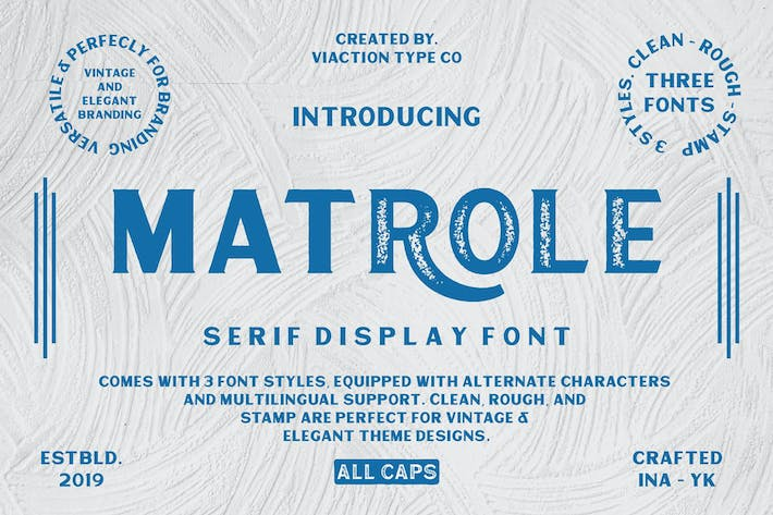 Thumbnail for Matrole - Vintage Font