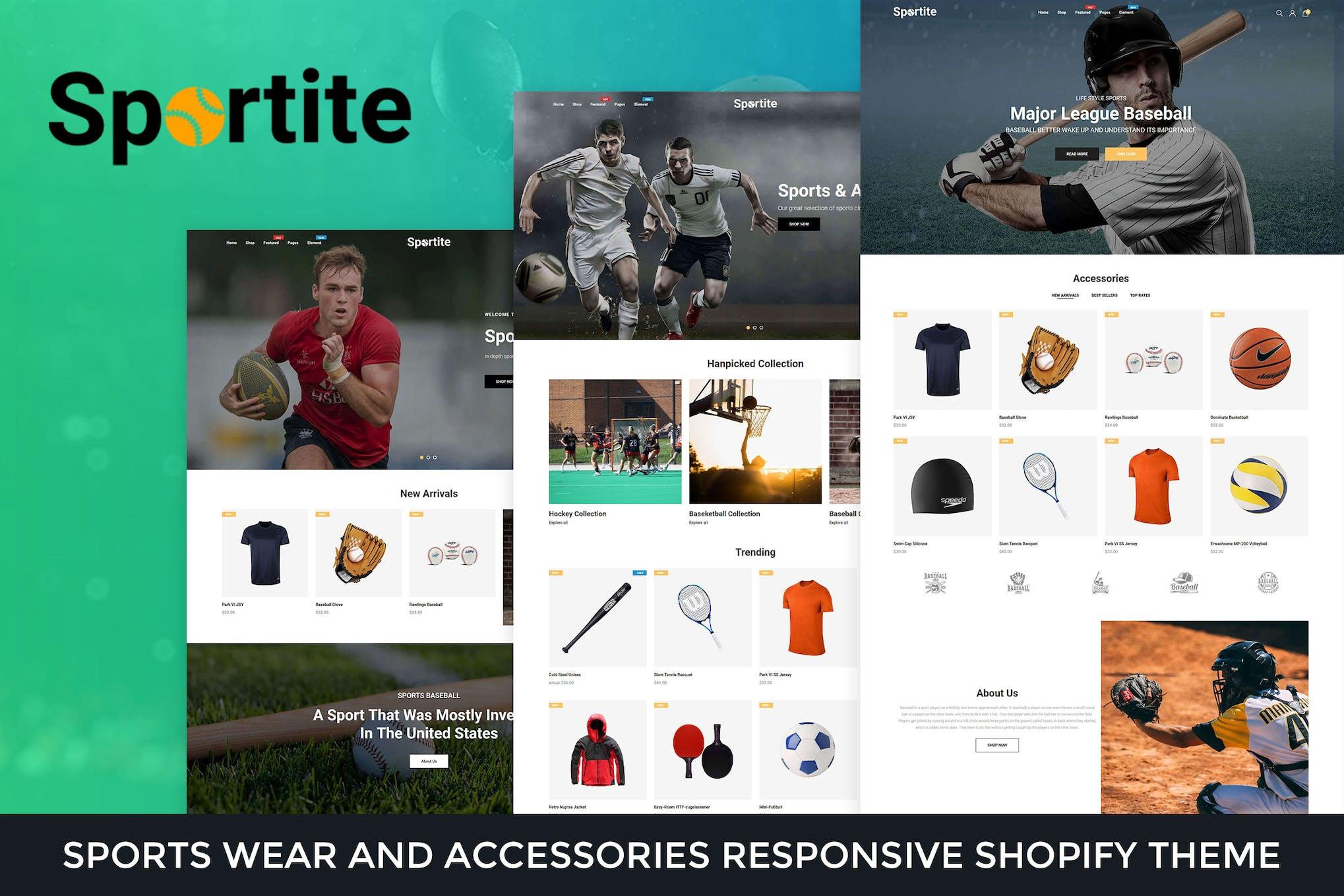 Sportite - Sports Wear & Accessories Shopify Theme